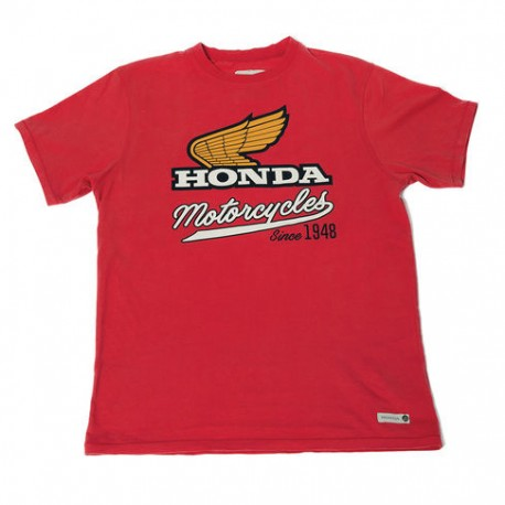 08HOV-T18-2X : Honda Motorcycle Red T-shirt CB650 CBR650