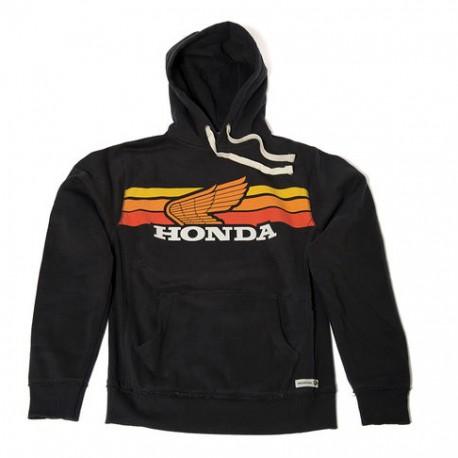 08HOV-H18-2X : Honda Sunset Black Hoodie CB650 CBR650