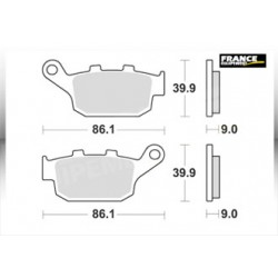 LMP481SR : AP Racing Rear Braking Pads CB650