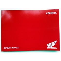 4XMKNA00 : CB650R owner's manual CB650 CBR650