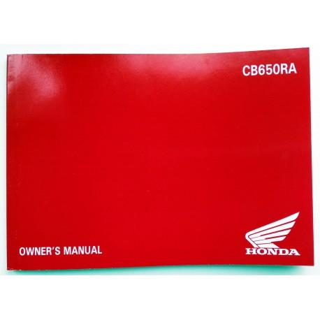 4XMKNA00 : Manuel du conducteur CB650R CB650 CBR650