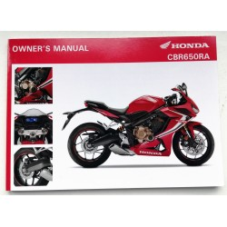 CBR650R owner's manual