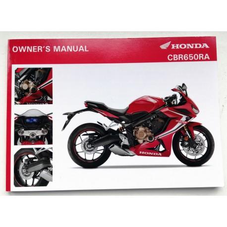 3XMKNA00 : CBR650R owner's manual CB650 CBR650