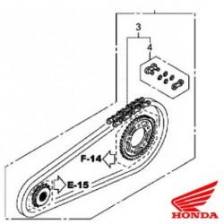 06406-MJE-D00 : Kit-chaîne d'origine Honda CB650
