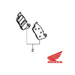 06455-MJE-D02 : Honda OEM front braking pads CB650 CBR650