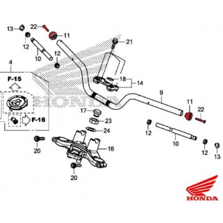 53104-MJE-D40 + 90191-MJE-D40 : Honda OEM handlebar cap CB650