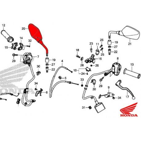 88210-MJE-D40 : Rétroviseur droit d'origine Honda CB650