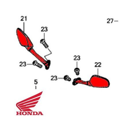 88110-MJE-D01 : Honda OEM right mirror CB650