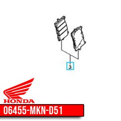 06455-MKN-D51 : Plaquettes de frein avant d'origine CB650