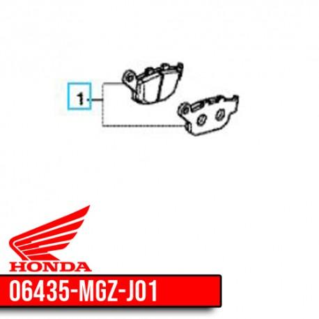 06435-MGZ-J01 : Honda OEM rear braking pads CB650