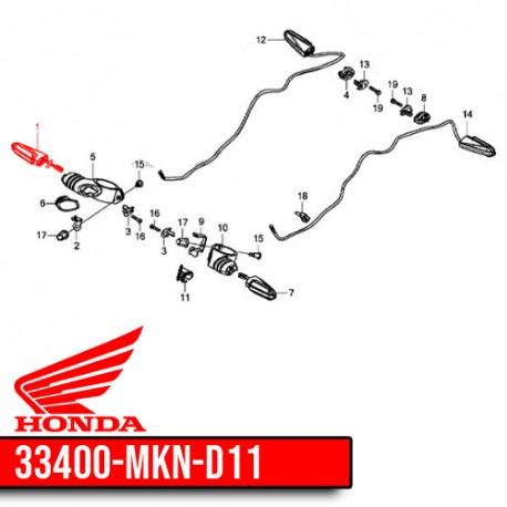 33400-MKN-D11 : Honda OEM turn signal CBR650R CB650 CBR650
