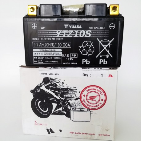 31500-MJE-DB2 : Batterie Yuasa YTZ10S CB650 CBR650