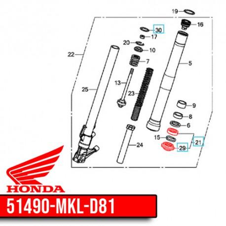 51490-MKL-D81 : Honda OEM fork seal CB650 CBR650